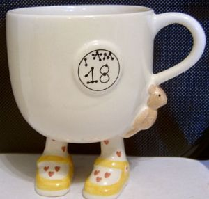 Carlton Ware Lustre Pottery 'I Am 18' Birthday Cup